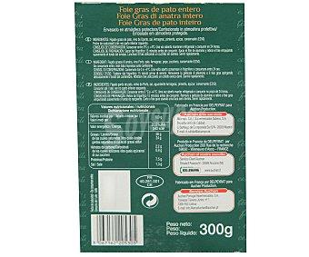 Auchan Foie Gras de Pato Entero Coque 300 Gramos