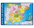 Tapete escolar con el mapa de España y medidas 34.5x49.5 cm erikg.