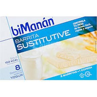 Bimanan Barrita de yogur Caja 8 unid