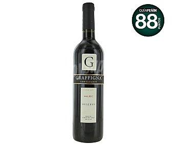 Graffigna Vino tinto reserva argentino malbec Botella de 75 centilitros