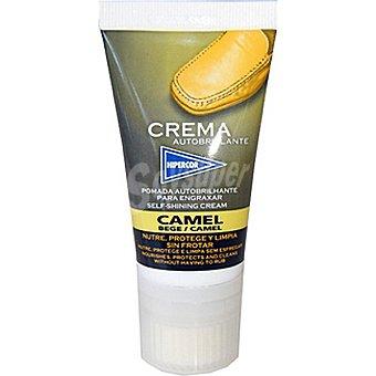 HIPERCOR limpia calzado crema autobrillante camel  tubo 50 ml
