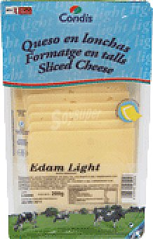 Condis Queso edam light lonchas 200 GRS