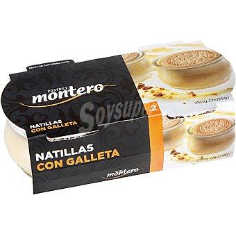 Montero Natillas con galletas Pack 2 unds. 125 g