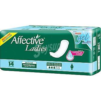 AFFECTIVE Ladies Compresa de incontinencia normal talla 3 envase 14 unidades