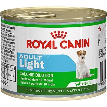 ROYAL CANIN ADULT LIGHT Alimento para perros adultos hasta 10 kg con tendencia a ganar peso lata 195 g 10 kg
