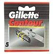 Contour recambio de maquinilla de afeitar estuche 5 unidades Estuche 5 unidades Gillette