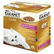Comida húmeda para gatos adultos gourmet gold doble placer Pack 8 uds x 85 g Gourmet