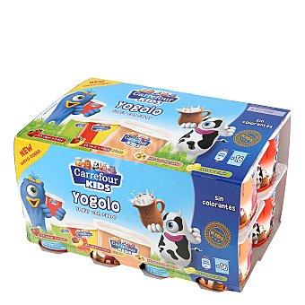 Carrefour Kids Yogur de sabores Pack de 16 de 125 gr