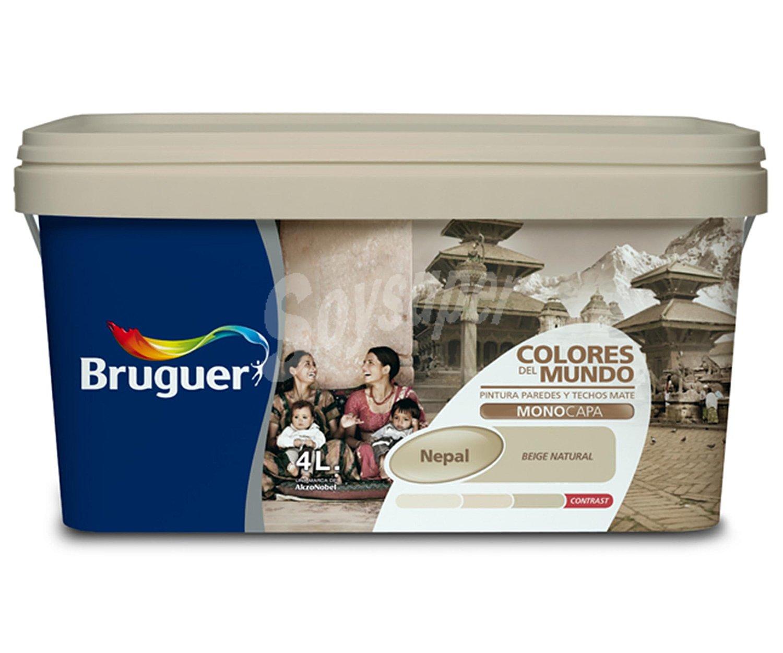Bruguer pintura pl stica monocapa de interior de color - Pintura monocapa bruguer ...