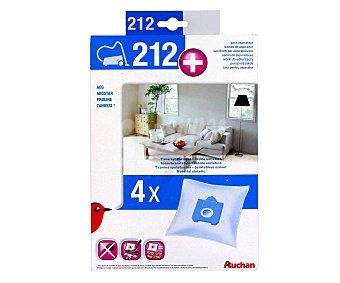 Auchan Pack de 4 bolsas de aspirador Nº 212+ (qilive Q.9277) Nº212
