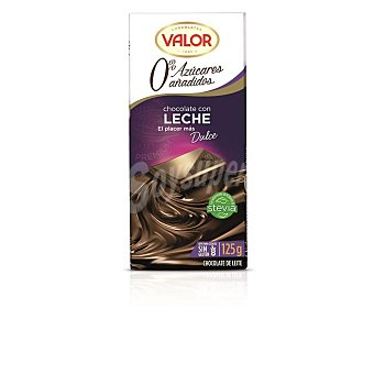 Valor Chocolate con leche sin azúcar Tableta 125gr