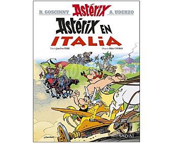 Salvat Libro ilustrado Asterix 37, Asterix en Italia, jean-yves ferri, rené goscinny. Género: cómic, juvenil. Editorial Salvat