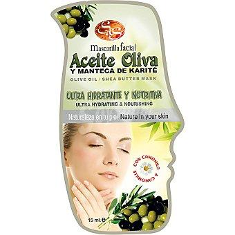 Sys Mascarilla facial aceite oliva y manteca de karité envase 15 ml ultra hidratante & nutritiva Envase 15 ml