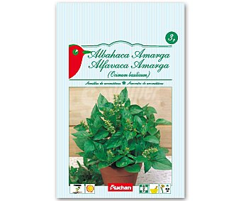 AUCHAN Semillas para plantar Albahaca de la variedad Amarga 3 Gramos