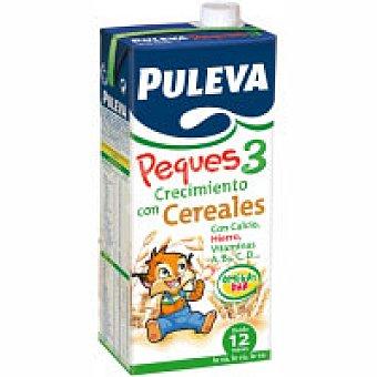 PULEVA Peques Preparado lácteo infantil crecimiento cereales a partir 1 año Puleva Peques 3 Brick pack 6 x 1 l - 6 l