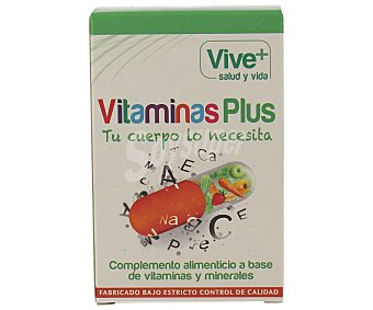 Viveplus Complemento alimenticio con vitaminas y minerales 50 cápsulas