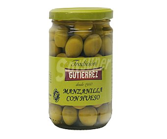 GUTIÉRREZ Aceituna manzanilla con hueso 250 Gramos