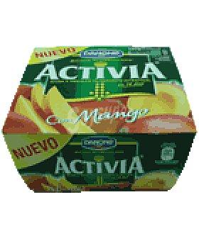 Activia Danone Yogur con mango 4 UNI