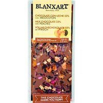 BLANXART Chocolate con leche con melocotón 100 g