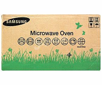 Samsung Microondas con grill, color blanco, capacidad 20 litros, potencia: 750w, grill: 1100w, ancho: 48,9cm, alto: 27,5cm