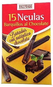Hacendado Barquillo neula tubo cubierto chocolate para helado Paquete 150 g