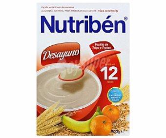 NUTRIBÉN Desayuno Papilla de trigo y frutas 900 Gramos