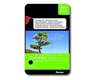 Auchan Cartucho Negro T0441(E23) - Compatible con Impresoras: Epson Stykys C64 / C66 / C84 / C84WN / C86 / CX3600 / CX3650 / CX4600 / CX6400 / CX6600