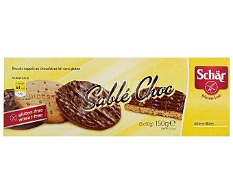 Schär Galletas digestiva chocolate sin gluten Envase 150 g