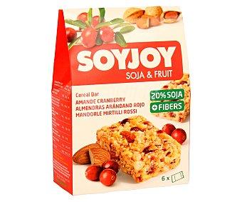 SOYJOY Barritas de soja, almendras y arándanos Pack de 6 unidades de 23 gramos
