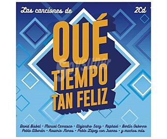 Recopilatorios Disco doble Cd Las canciones de Qué tiempo tan feliz. Género: recopilatorios. Lanzamiento: Abril de 2016