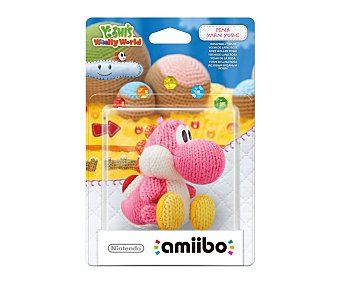 Nintendo Figura Amiibo Yoshi de lana color rosa, compatible con juego Yoshi's Wolly World 1 unidad