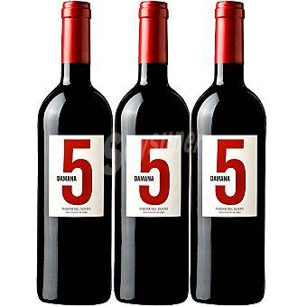 DAMANA 5 vino tinto joven roble D.O. Ribera del Duero Estuche 3 estuche 75 cl