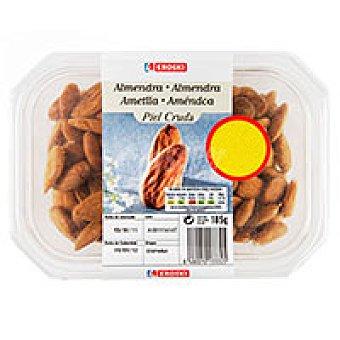 Eroski Almendras piel cruda Tarrina 185 g
