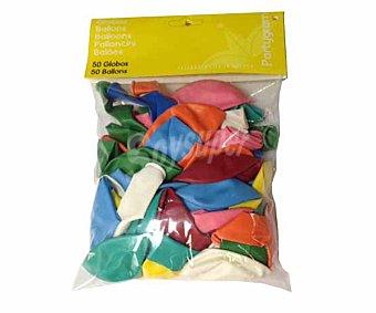 Partygram Globos de colores surtidos 50 unidades
