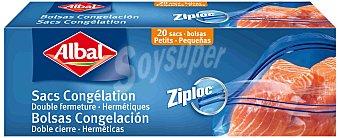 Albal Bolsa Hermética Congelación Albal Ziploc 18x20 20 bolsas