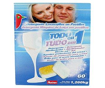 Auchan Detergente Lavavajillas Todo en 1 Pastillas