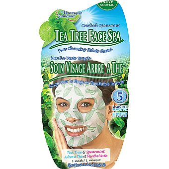 MONTAGNE JEUNESSE Mascarilla facial Spa té verde + limpieza de poros Envase 1 unidad