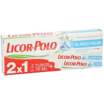 Licor del Polo Pasta dental blanco polar  Tubo 2 unidades de 75 ml