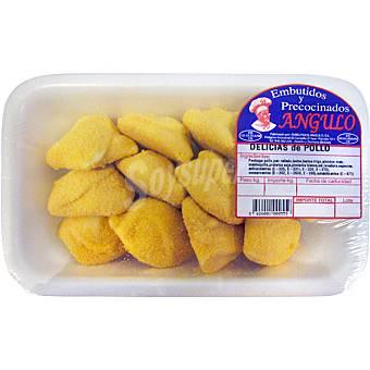 EMBUTIDOS Y PRECOCINADOS ANGULO Delicias de pollo peso aproximado bandeja 500 g Bandeja 500 g