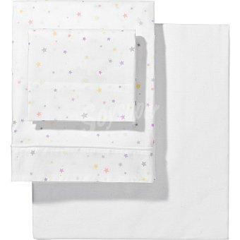 Dombi Juego de sábanas estampada con estrellas multicolores para cuna