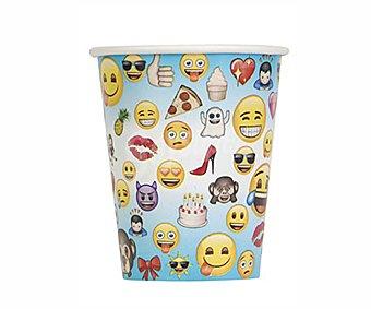 Partygram s infantiles desechables de 0,26 litros de capacidad, modelo Emoji partygram Pack de 8 vaso