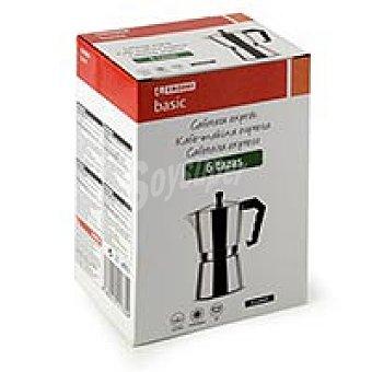 Eroski Basic Cafetera Italiana de Aluminio, apto para cocinas eléctricas, gas y vitrocerámica, eroski, 6 tazas