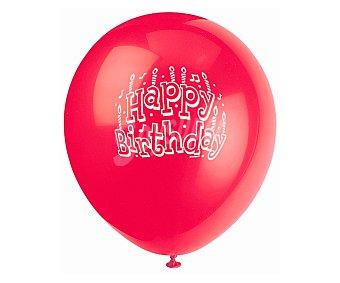 PARTYGRAM Globos de colores de 30,5 centímetros con impresión de Happy Birthday 10 unidades