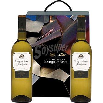 Marqués de Riscal vino blanco sauvignon D.O. Rueda  Estuche 2 botellas 75 cl
