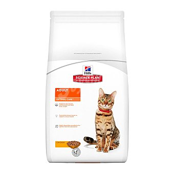 HILL'S SCIENCE PLAN Pienso para gatos adultos Hills Science Plan Optimal Care pollo 2 Kg
