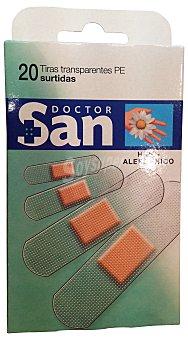 DOCTOR SAN Tiritas protectoras surtidas color piel - transparentes Caja 20 u