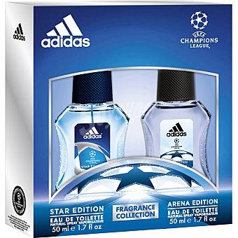 ADIDAS UEFA Champions League Arena Edition eau de toilette natural masculina + Star Edition esu de toilette natural masculina spray 50 ml spray 50 ml