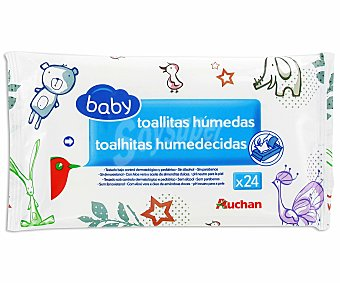 Baby Auchan Toallitas húmedas para bebé 24 uds