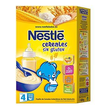 Nestlé Papilla de cereales sin gluten, desde 4 meses Caja 600 g