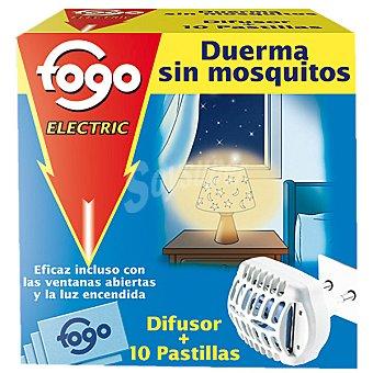 Fogo Insecticida volador electrico antimosquitos aparato + recambio 10 pastillas 10 pastillas